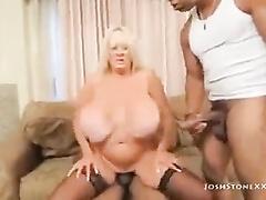 Big titted Kayla Kleavage wife cuckold porn interracial threesome