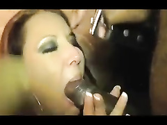 Busty big assed amateur wife sucks and fucks BBC