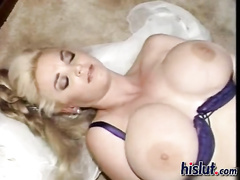 Big titted thick retro hotwife in lingerie interracial