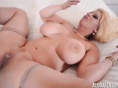 Blond woman Alura Jenson big black cock ir compilation