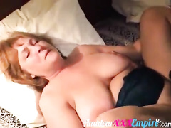 Fat white wife gets seeded by black lover for hubby