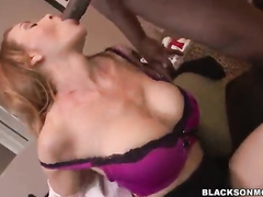 Perfect big titted white MILF brutal Interracial Blowbang