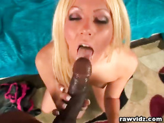 Young blonde worships BBC in POV and gets fucked