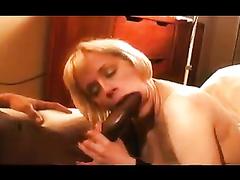 Blonde Interracial BBC 12-Inch Blowjob and Fuck