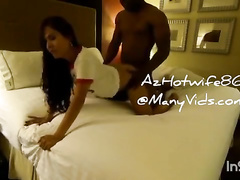 Asian wife is creampied by black bull on Christmas