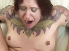 Amateur tattoed redhead chubby bitch gets bbc