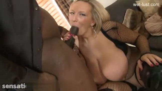 Big titted blonde wife with black dick