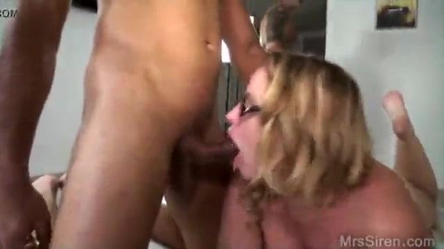 Curvy wife in glasses double bbc hardcore