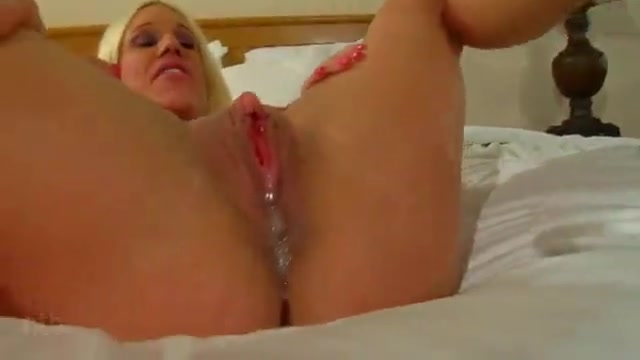 Blonde big titted in lingerie deep womb creampie