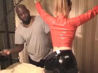 White wife in latex gets enslaved by bbc master